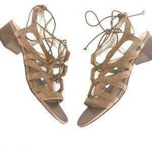 Sam Edelman Ardella Lace-Up Suede Sandal Size 8 38